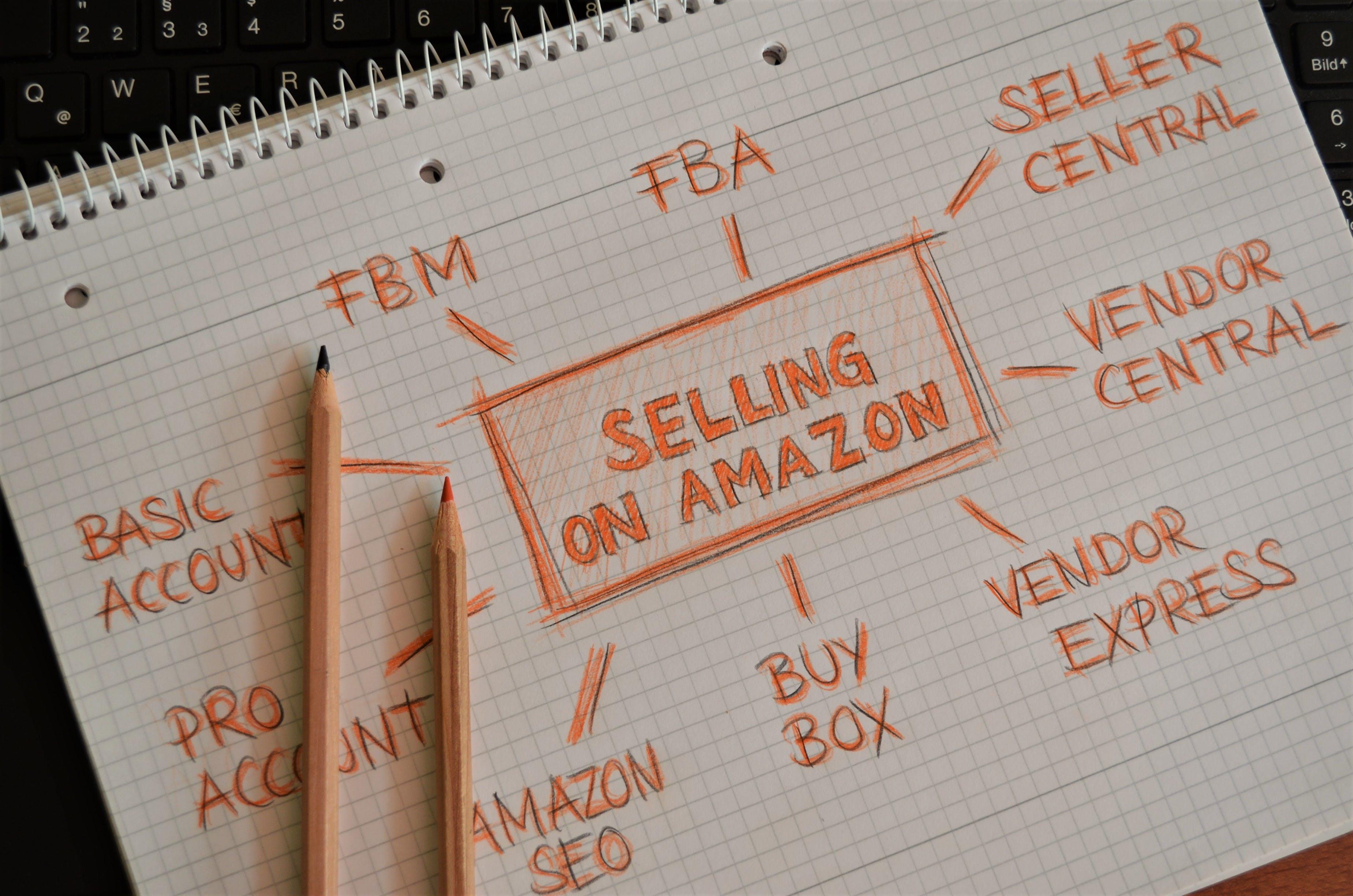 Free stock photo of marketing, laptop, orange, pencils
