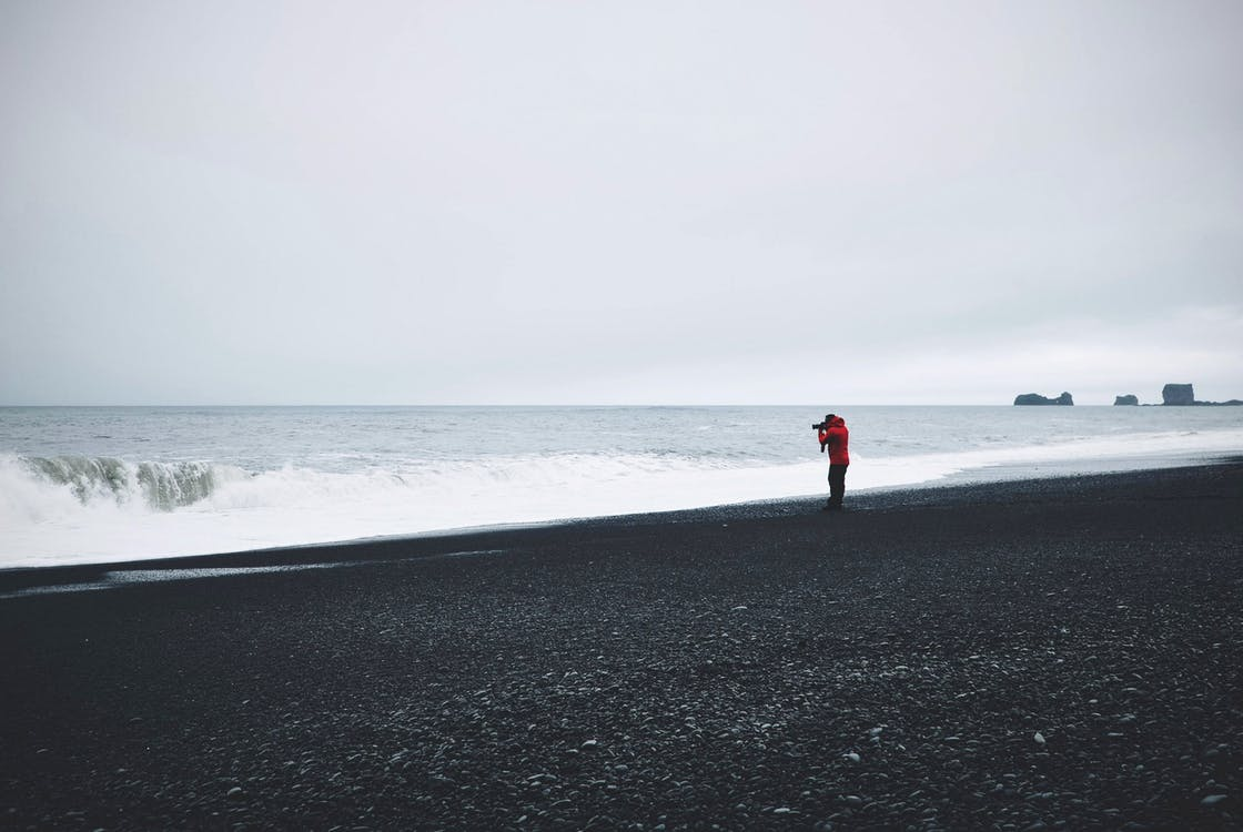 dagsljus, fotograf, hav