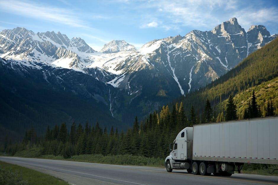 White Dump Truck Near Pine Tress during Daytime