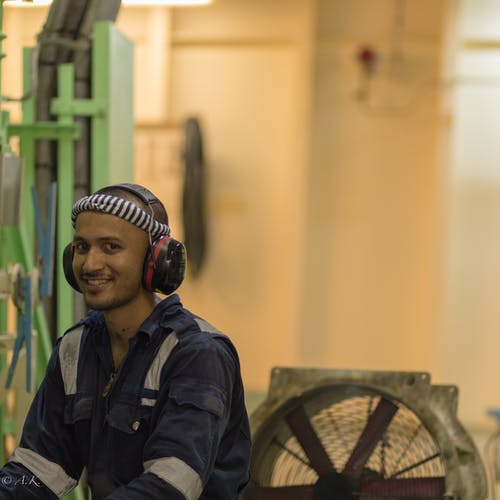 Free stock photo of A Cadet in happy mood @work in Merchant ship