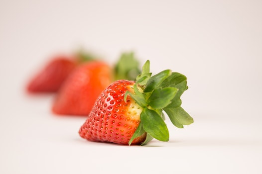 Shallow Focus Of Strawberry