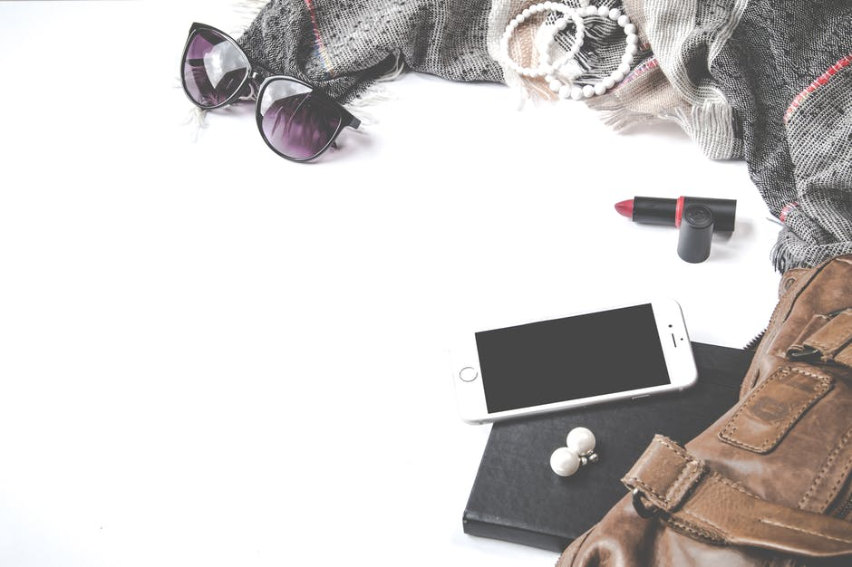 Flatlay photography of woman s things