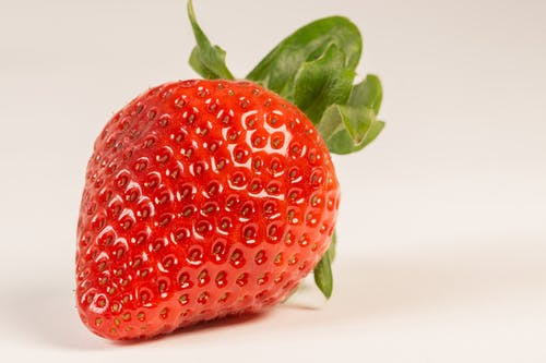Macro Photography of Strawberry