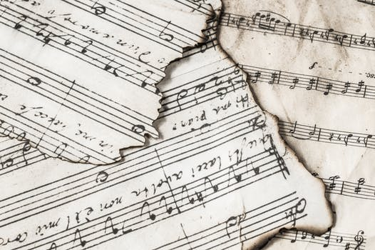 An image of music sheets