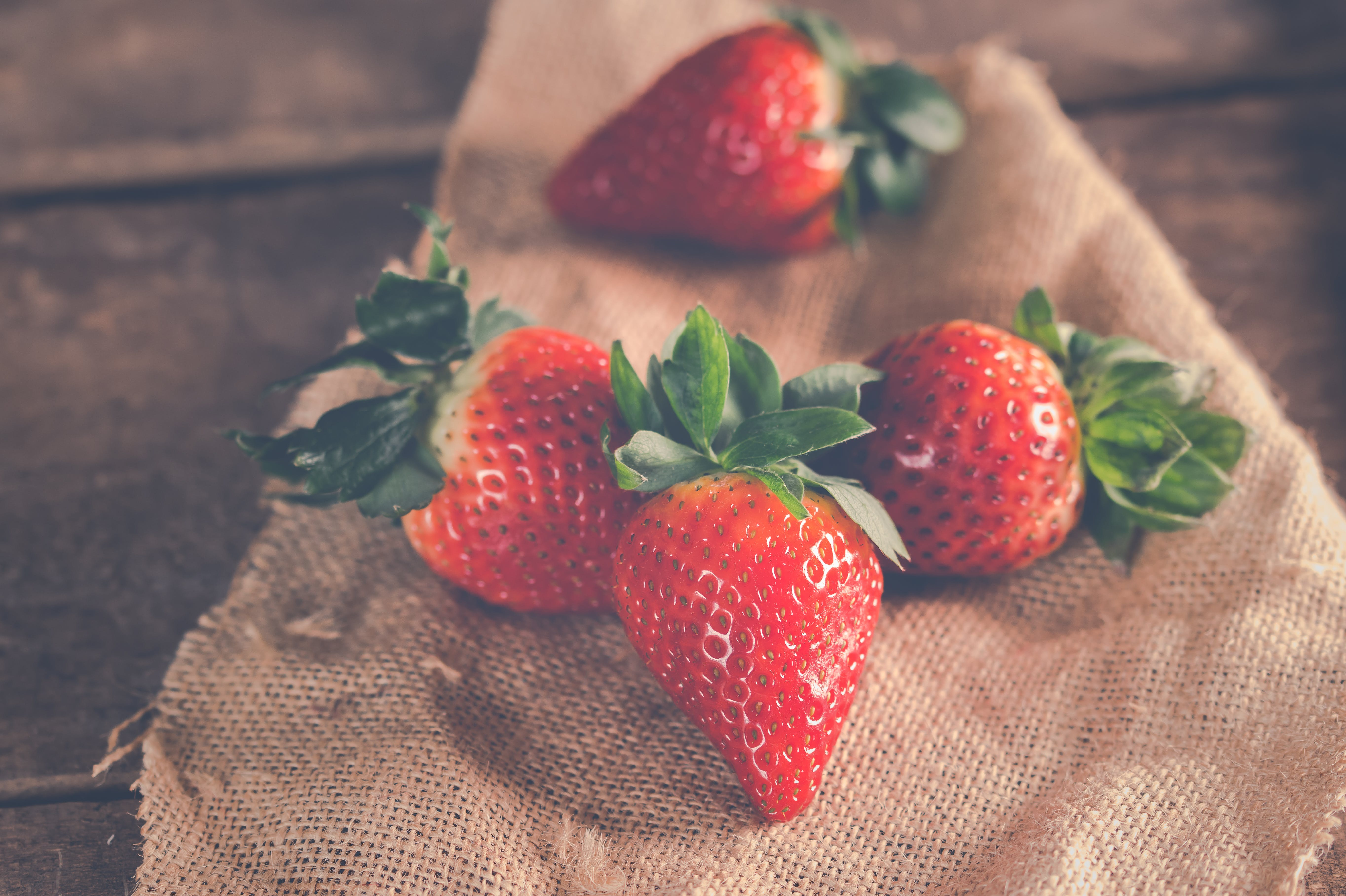 Close-up Photography of Strawberries