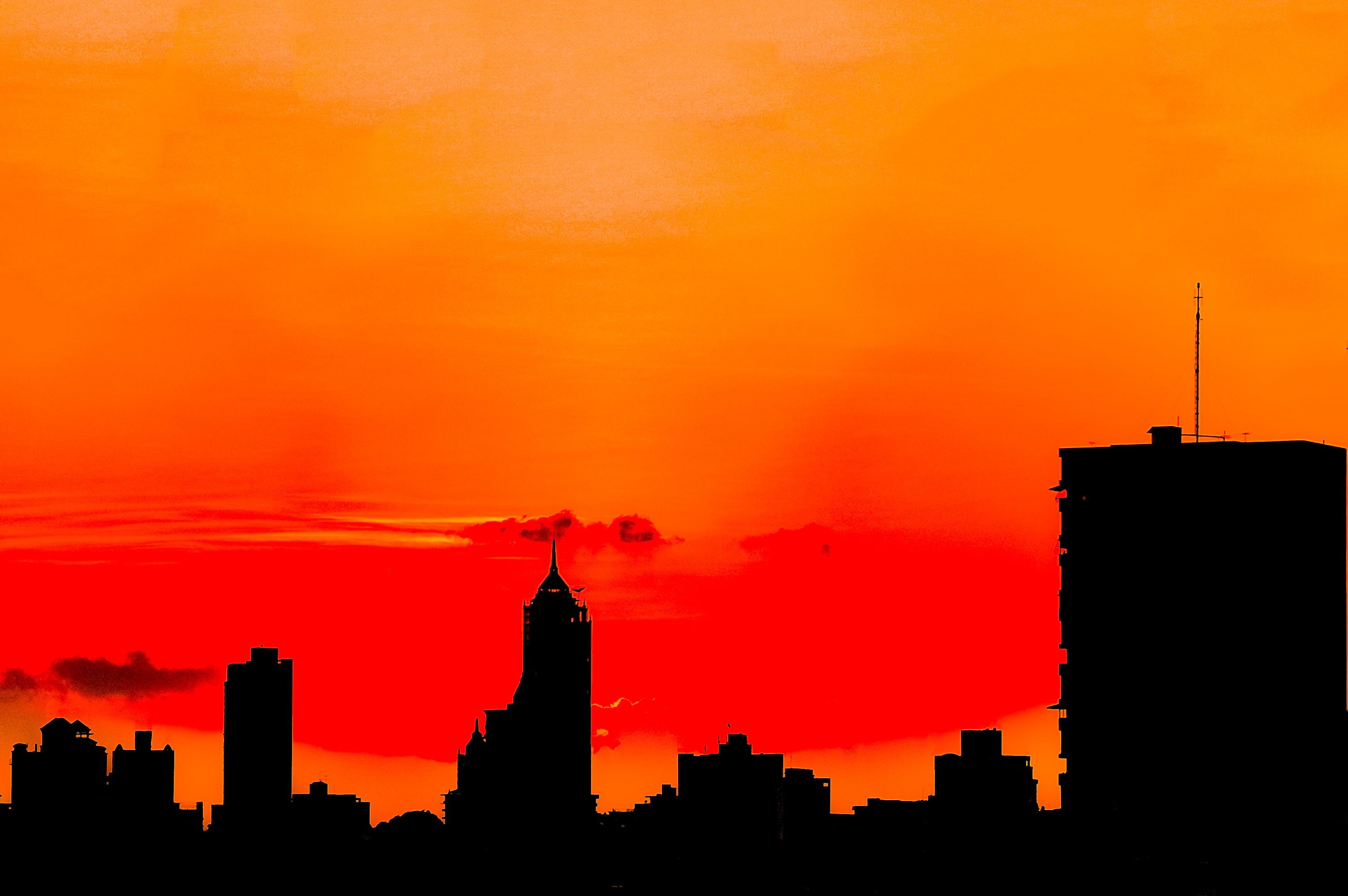 Silhouette of Buildings