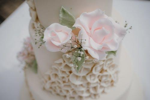 Foto profissional grátis de Bolo de casamento, decoração, design