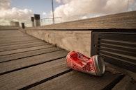 can, litter, coca cola