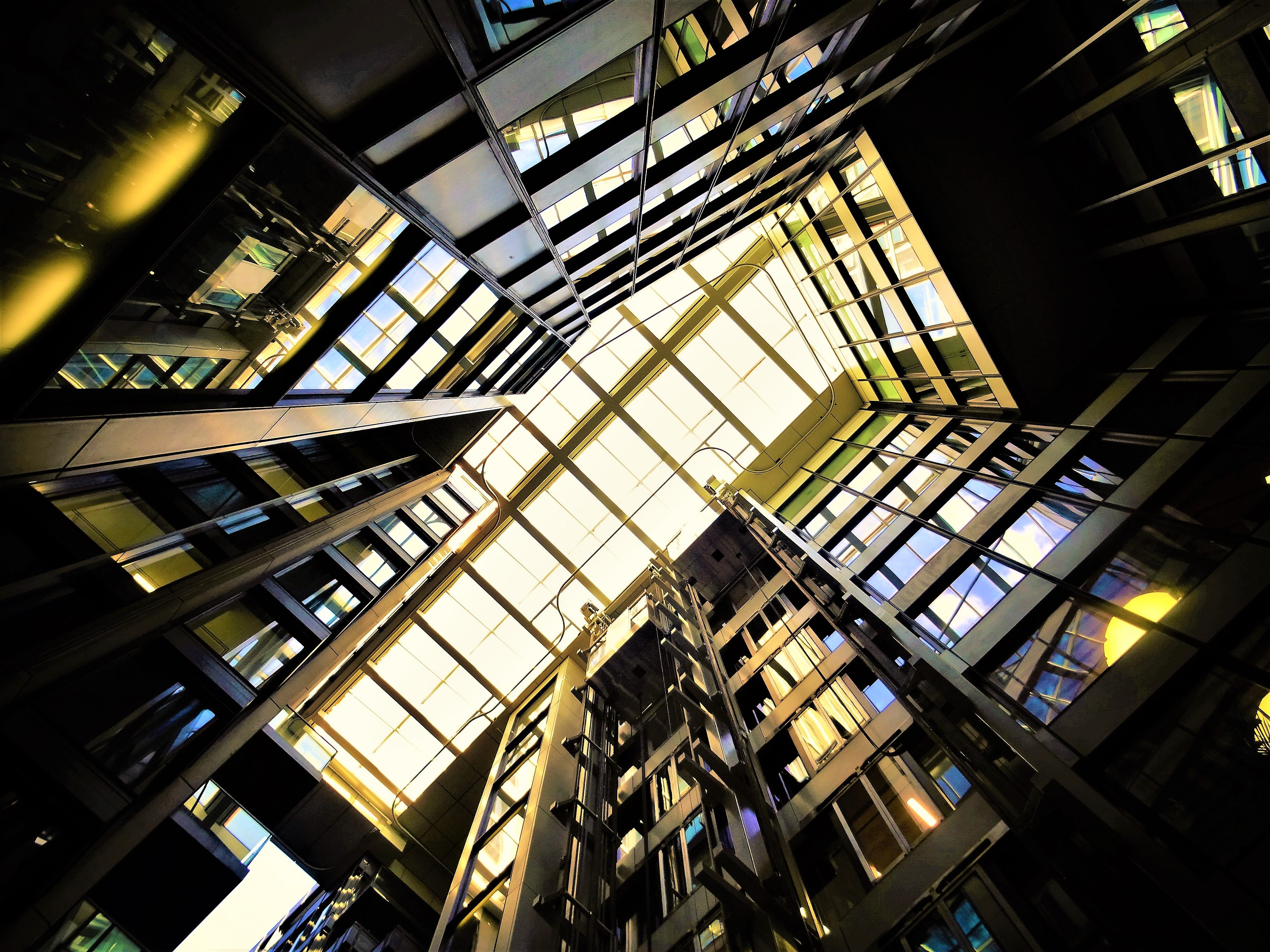 Low Angle Photography of Building Interior