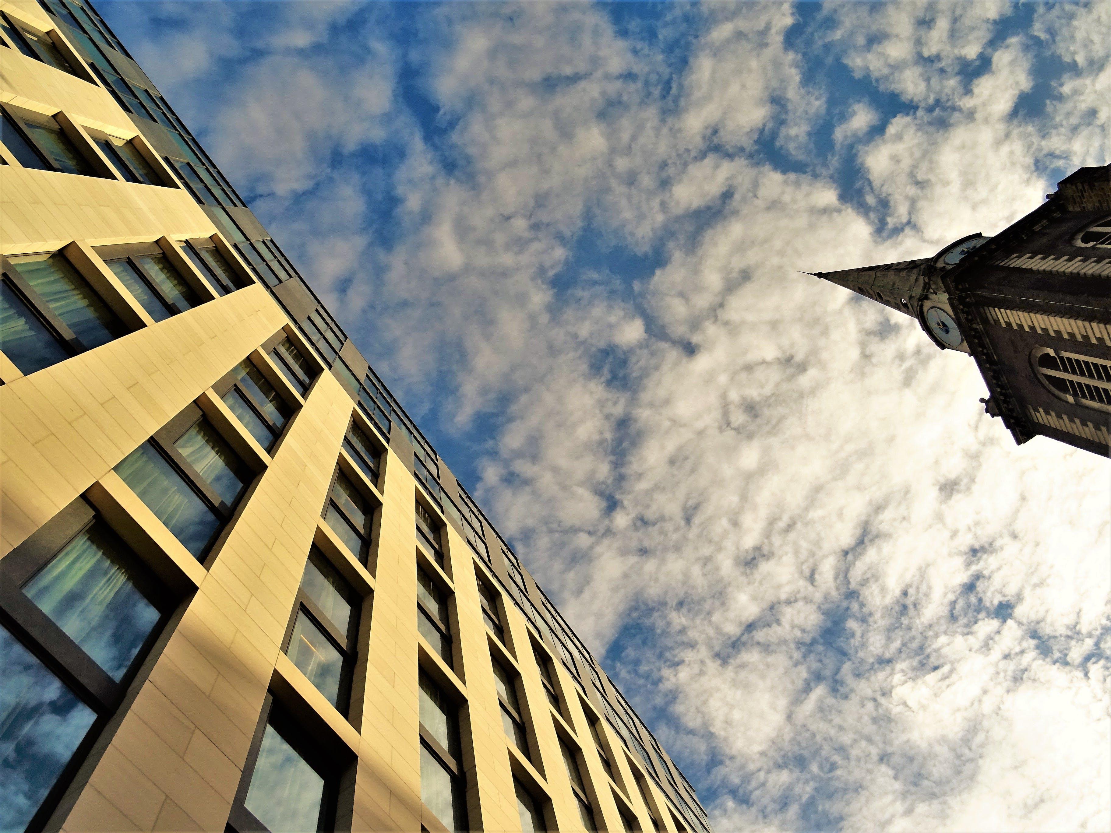 de alto, arquitectura, céntrico, cielo