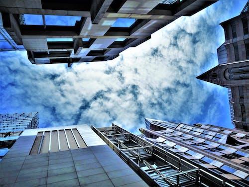 Ingyenes stockfotó acél, alacsony szögű felvétel, belváros, design témában