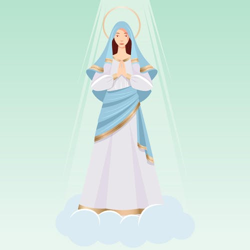 Free stock photo of mother of god