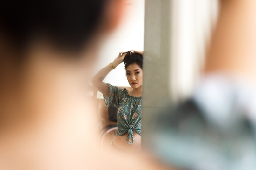 Woman Wearing Grey Crop Top Blouse Posing for Photo