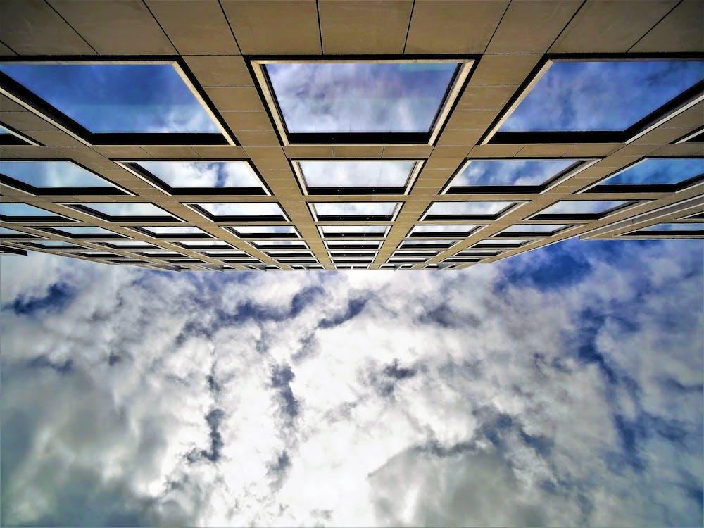 architectuur, binnenstad, daglicht