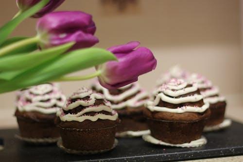 Free stock photo of birthday cake, clebration, cupcakes, flowers