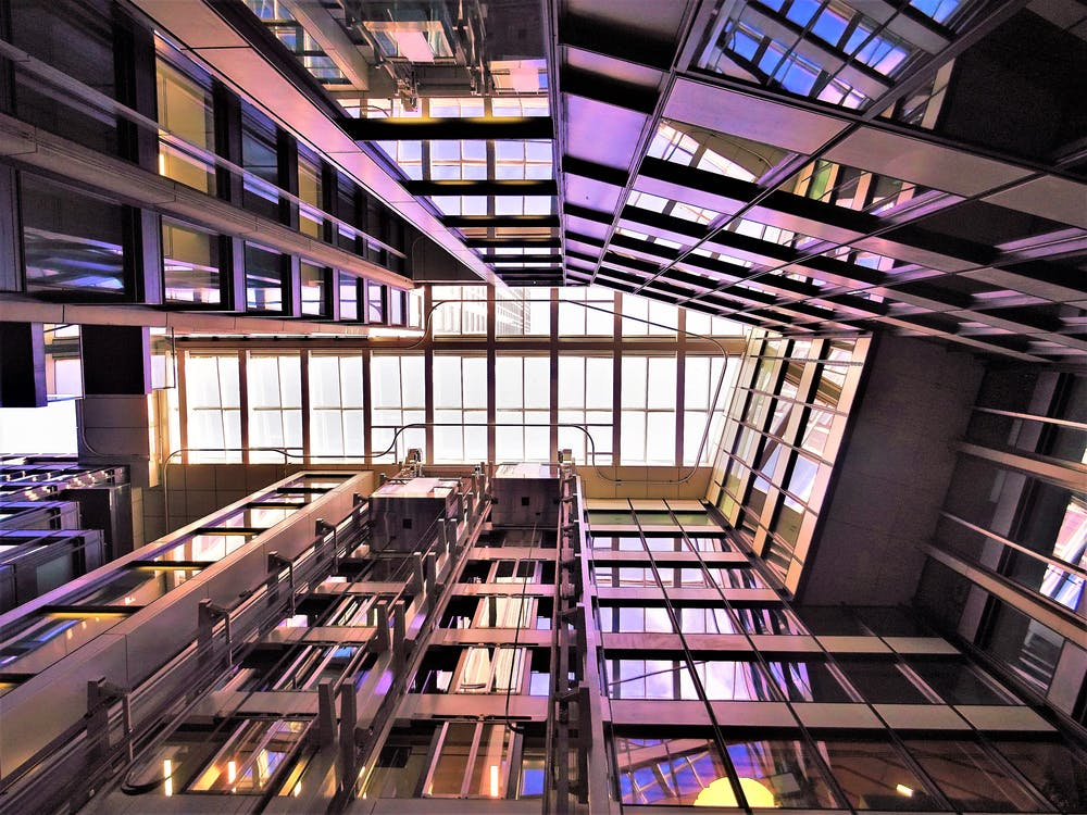 Low Angle Photograph of High-rise Building Interior