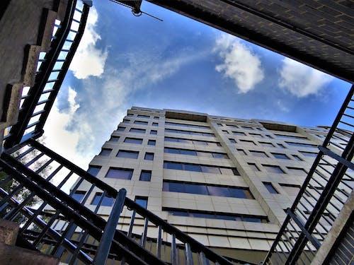 Ingyenes stockfotó ablakok, acél, alacsony szögű felvétel, belváros témában