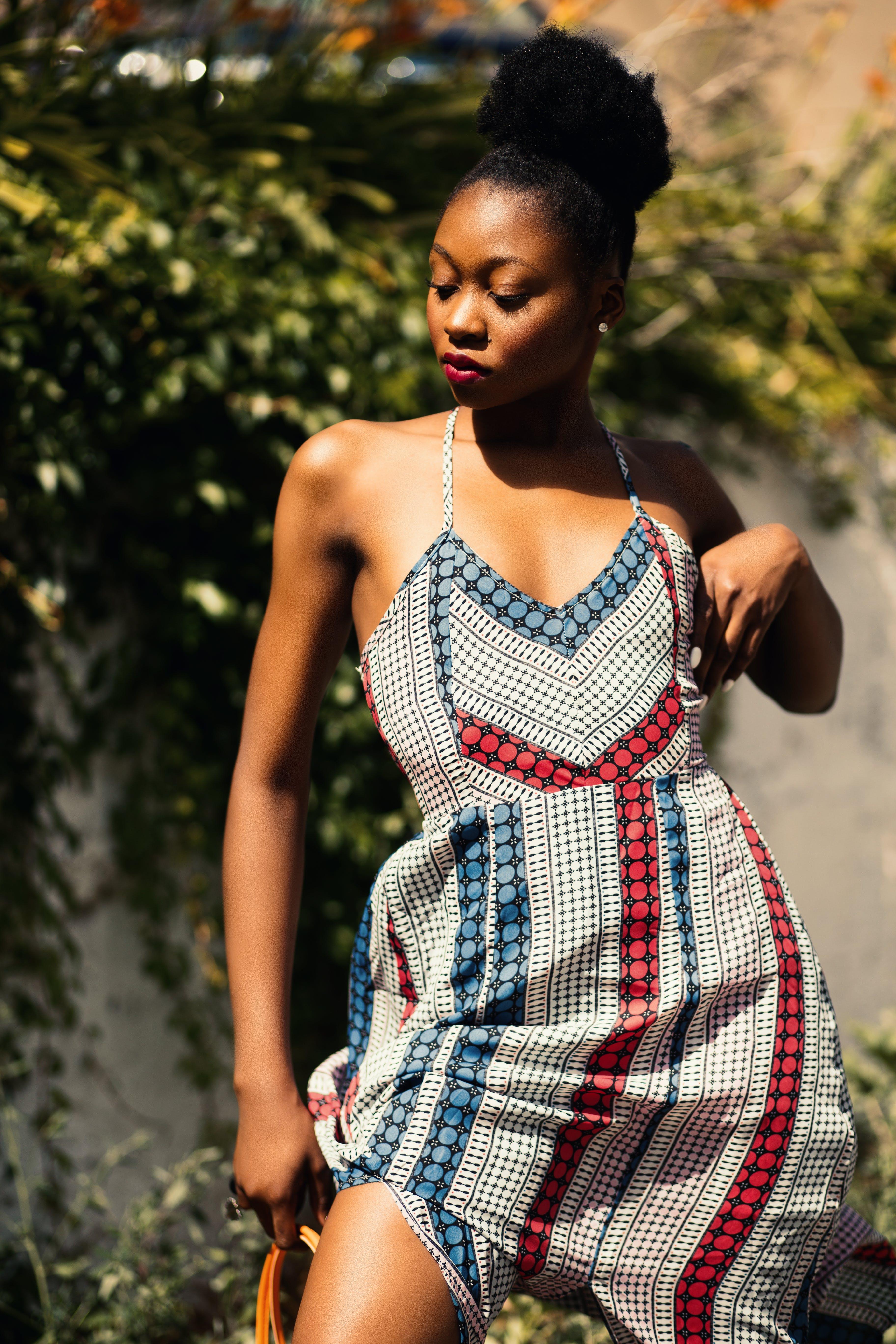 Photo of a Woman Wearing Spaghetti Strap Dress