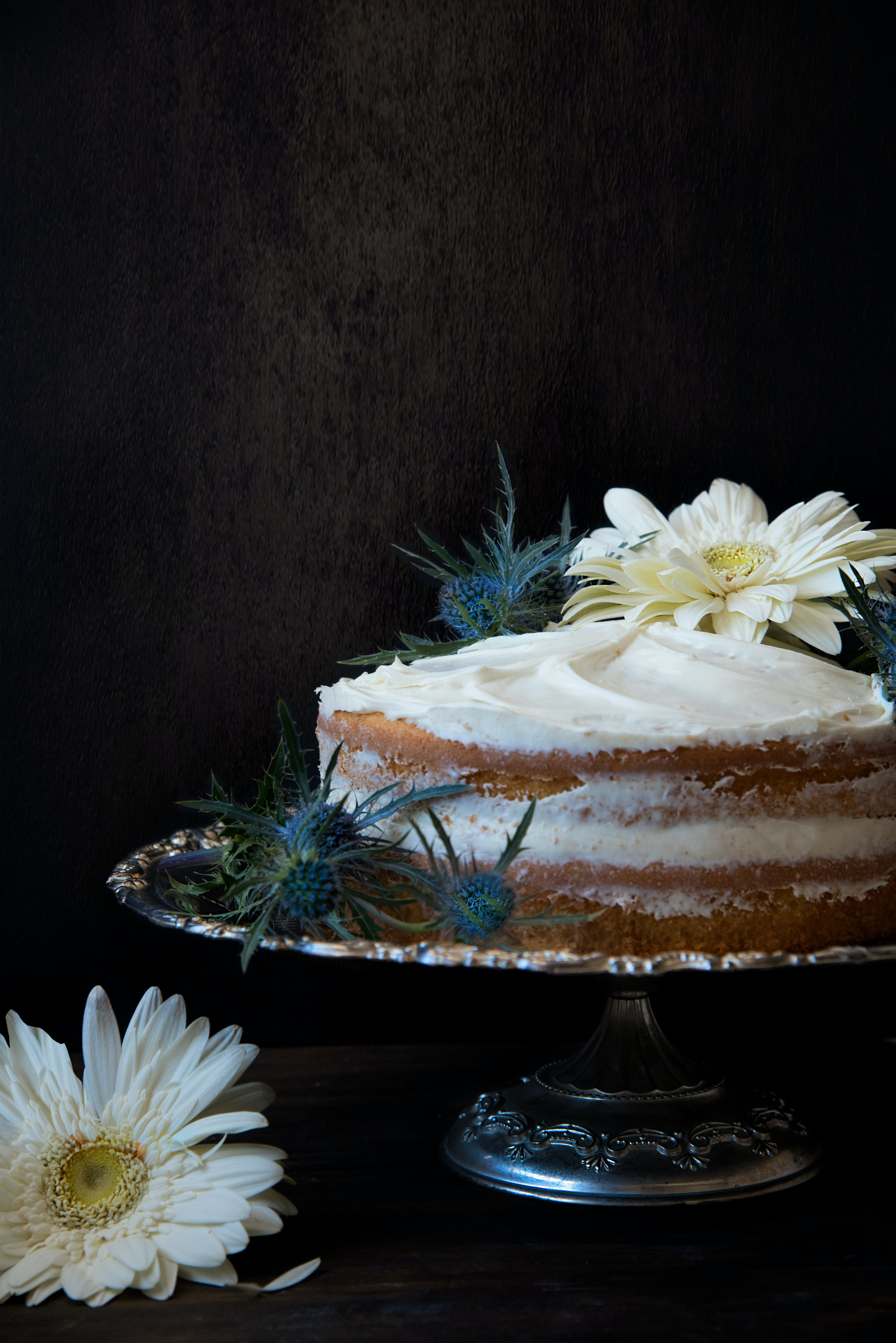 Cake With Icing on Top Silver Cake Stand