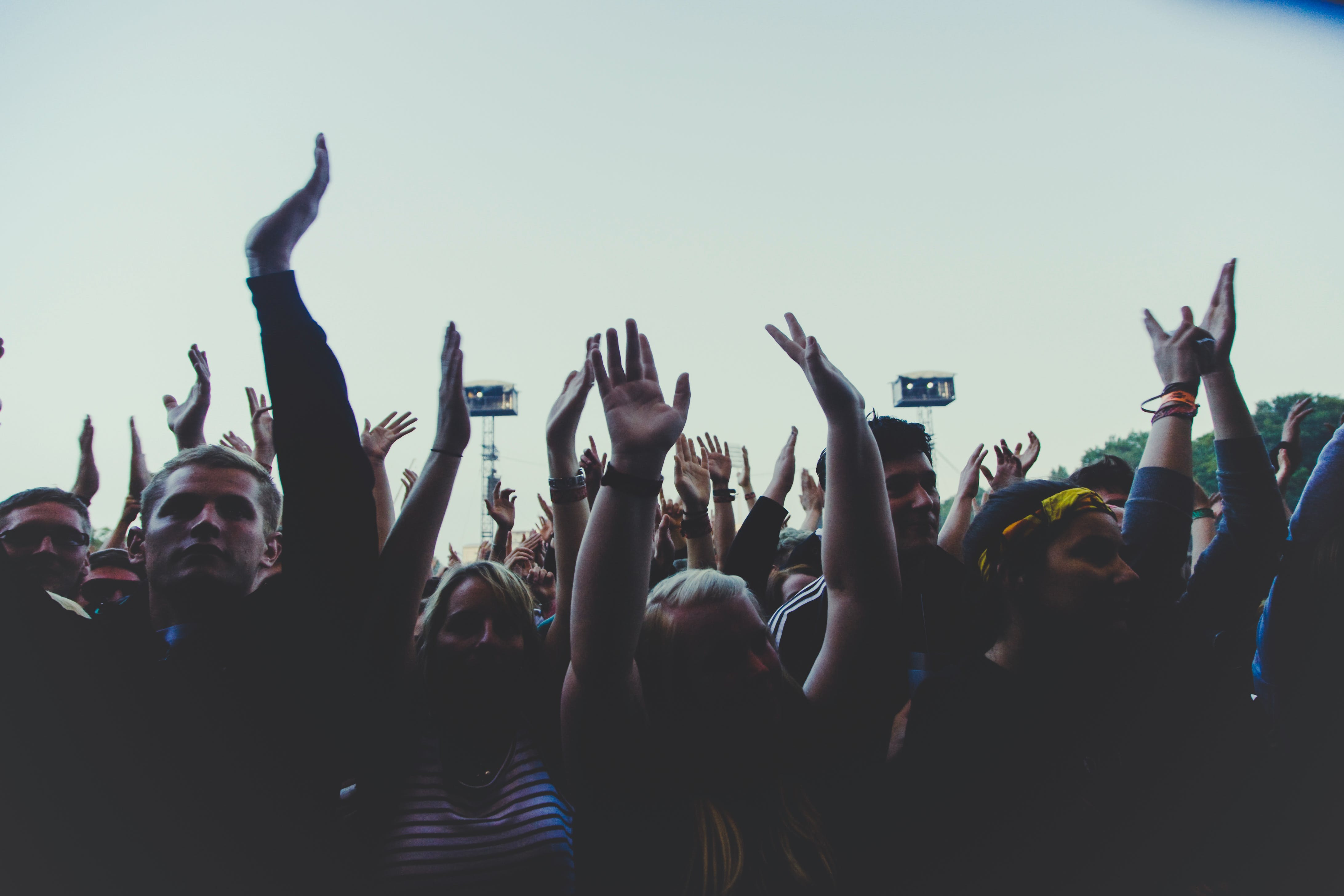 Free stock photo of festival, music, rock, fans