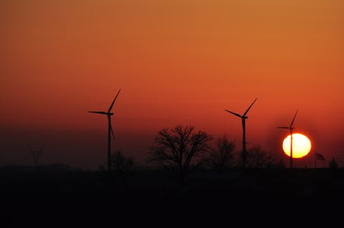 Free stock photo of early sunrise, orange, orange background