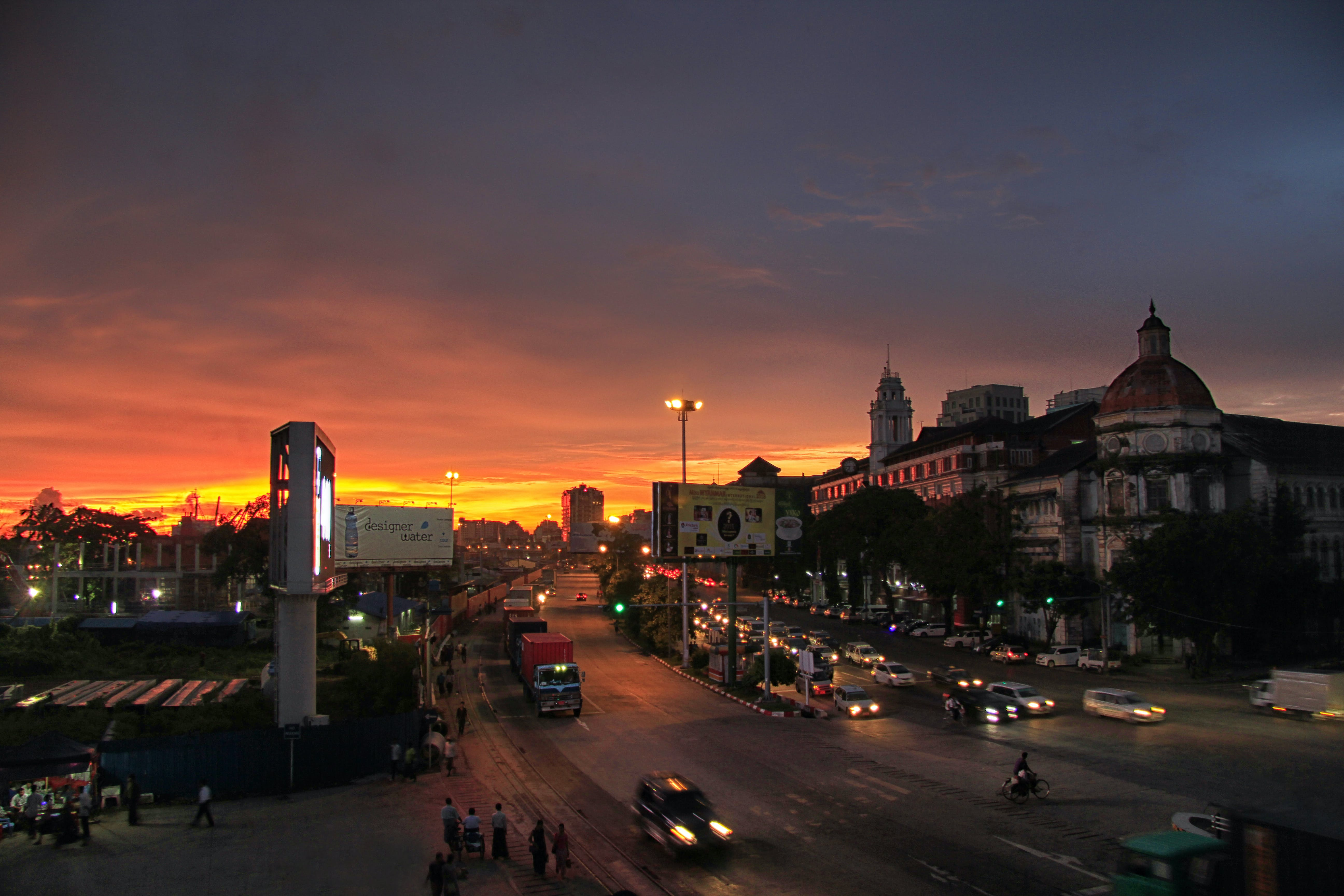 Fotos de stock gratuitas de vista nocturna, yangon, yangon_nightview