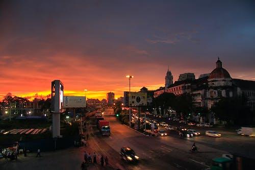 Free stock photo of nightview, yangon, Yangon_nightview