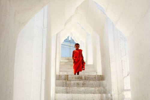 Free stock photo of little_monk, monk