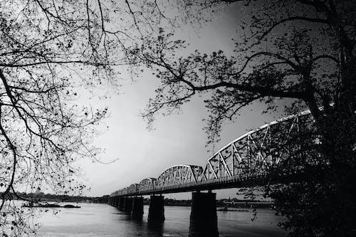 Kostnadsfri bild av bro, himmel, landskap, metall