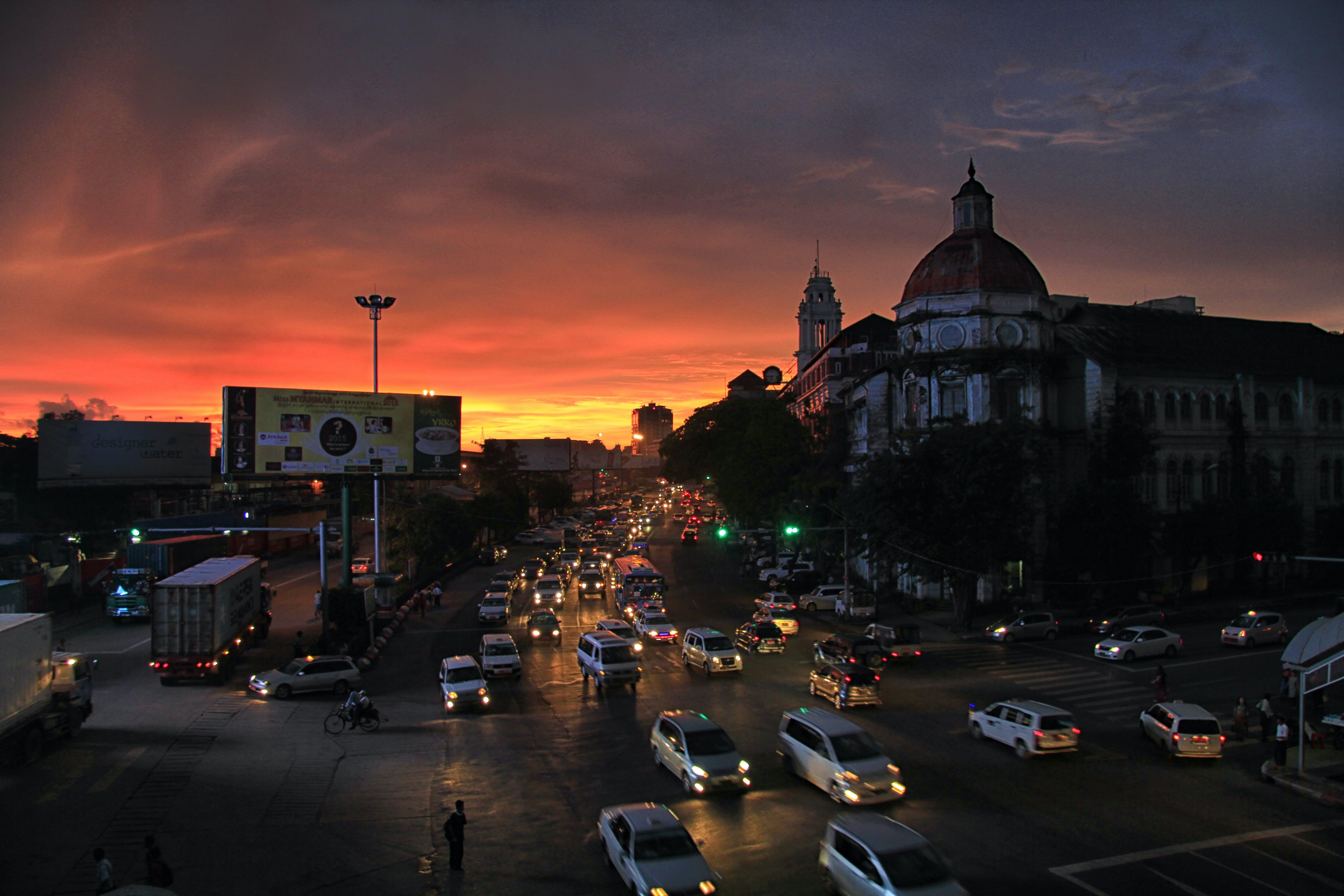 Free stock photo of myanmar, night_view, yangon, Yangon_nightview