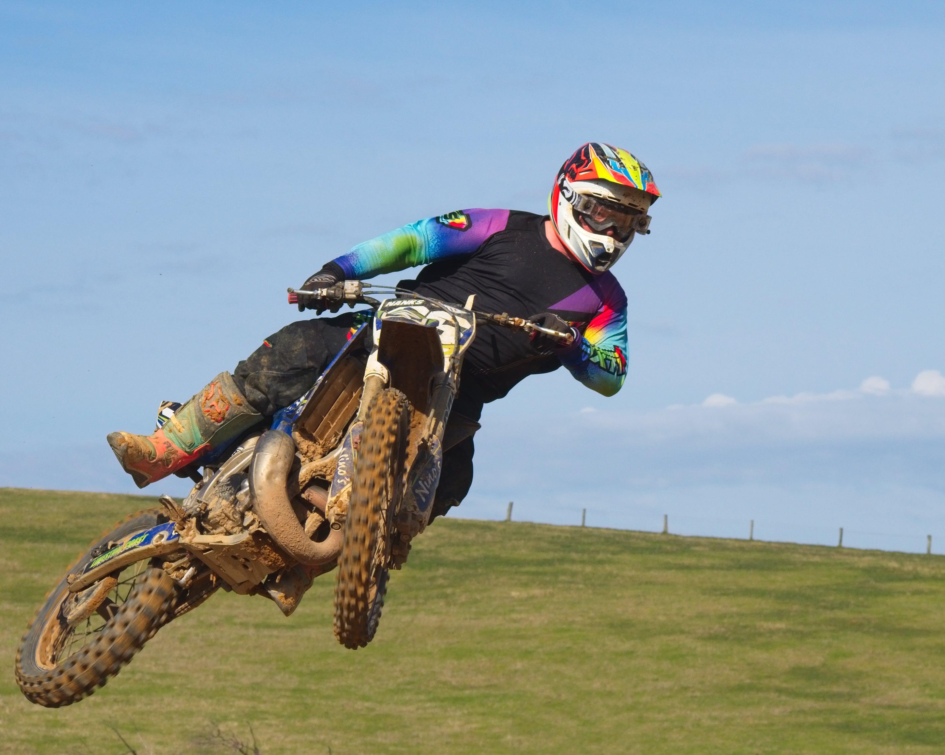 Kostenloses Stock Foto zu motocross, motorrad, sprung