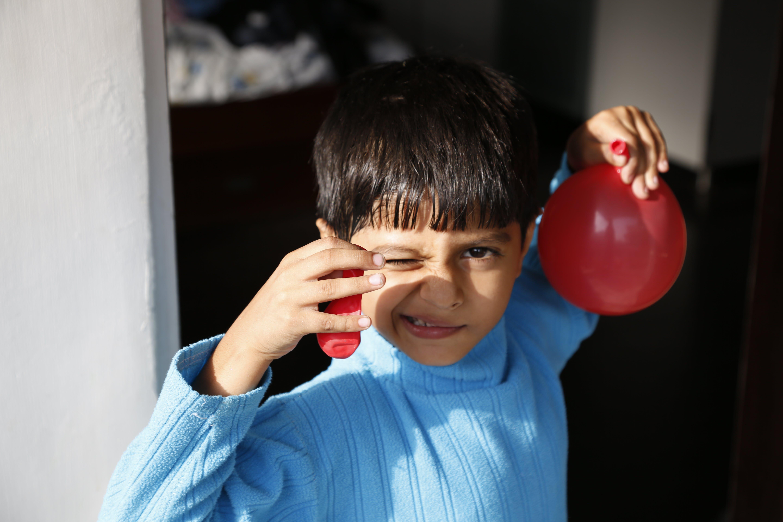 Free stock photo of balloon, blue, boy, expression
