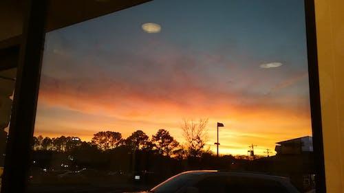 Бесплатное стоковое фото с вечернее небо, вечернее солнце, закаты
