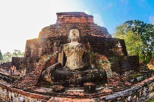 Fotobanka sbezplatnými fotkami na tému archeológia, architektúra, ázijský, Buddha