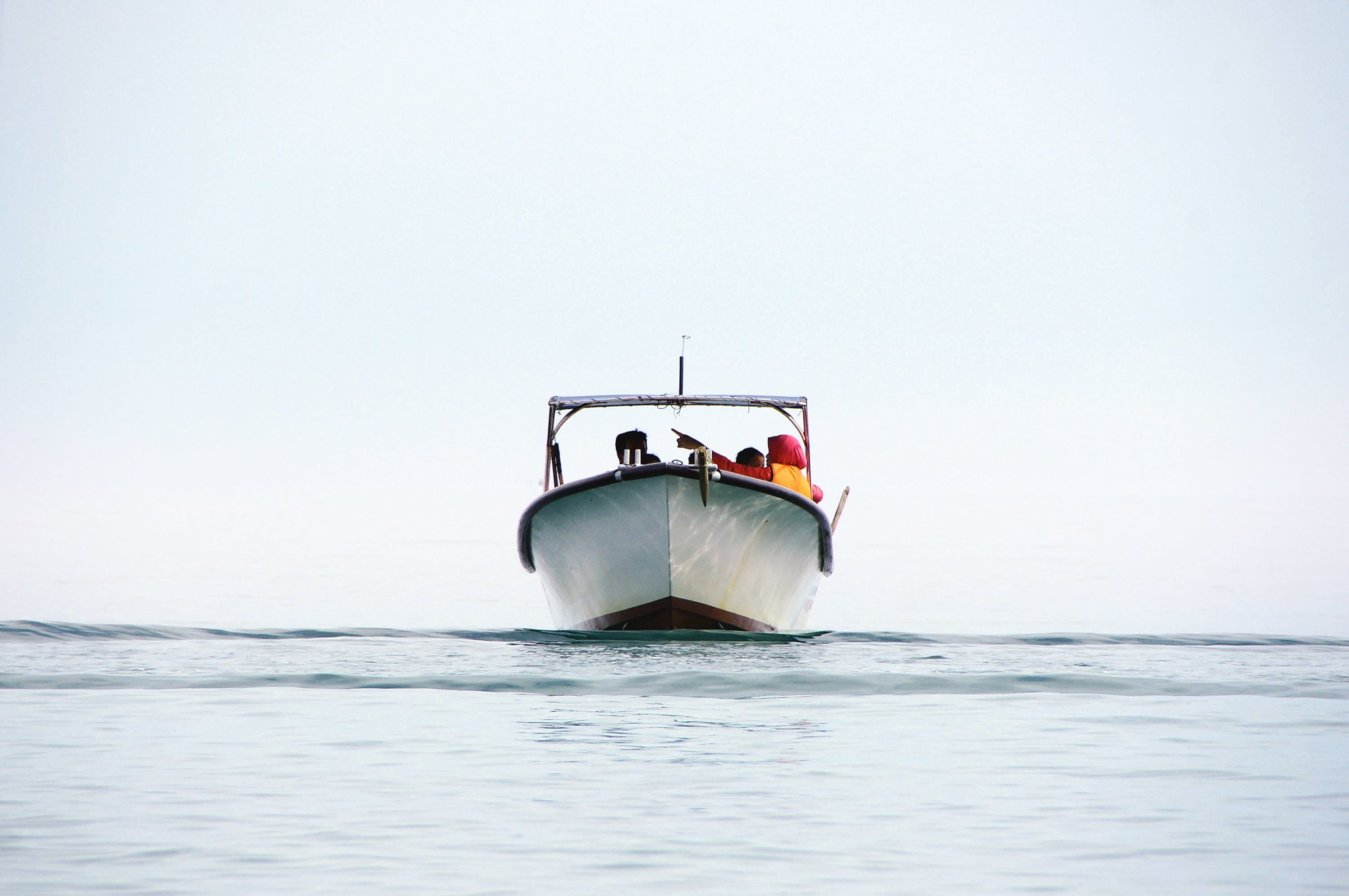 Free stock photo of blue sky, boat, by the sea, clear sky
