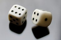 luck, six, rolling dice