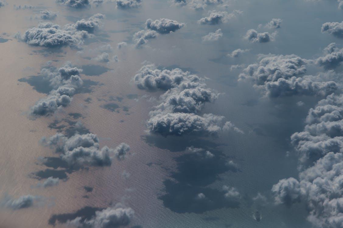 malebný, more, mraky
