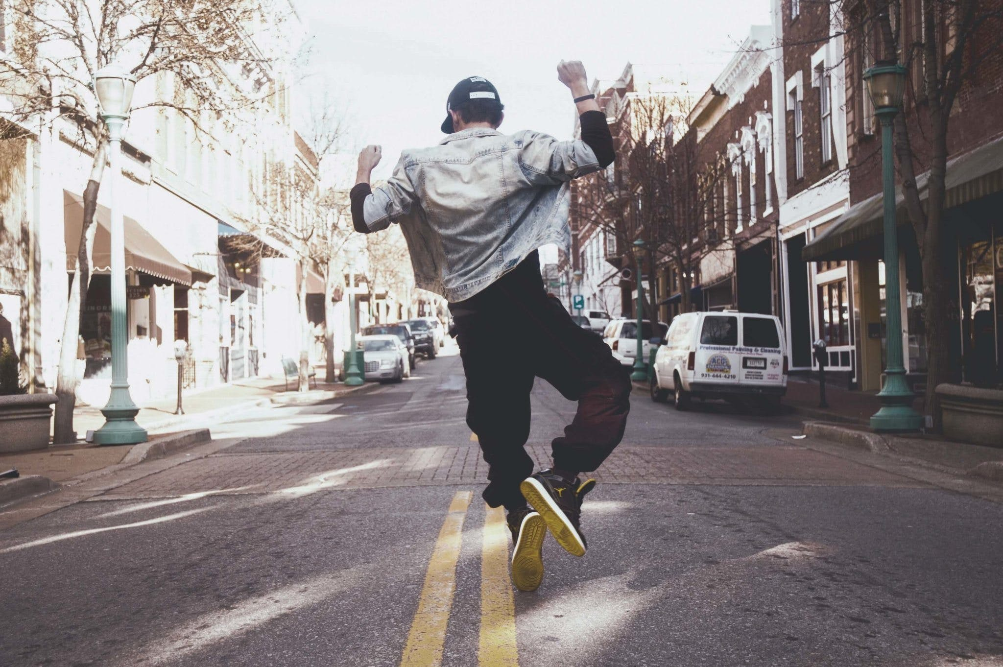 Photo of Man Dancing in the Street