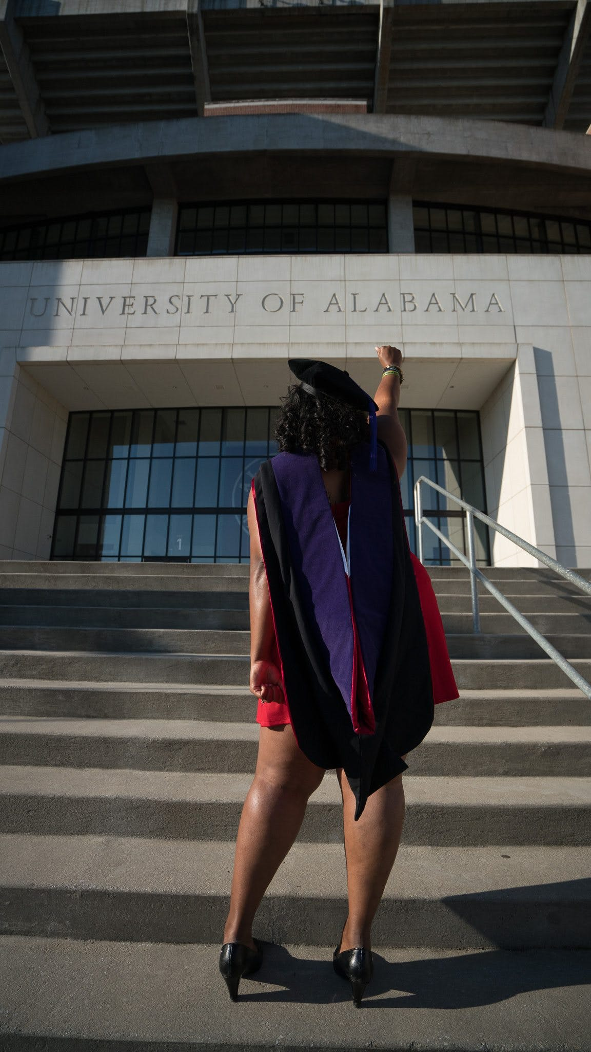 Woman Standing in Front of University of Alabama