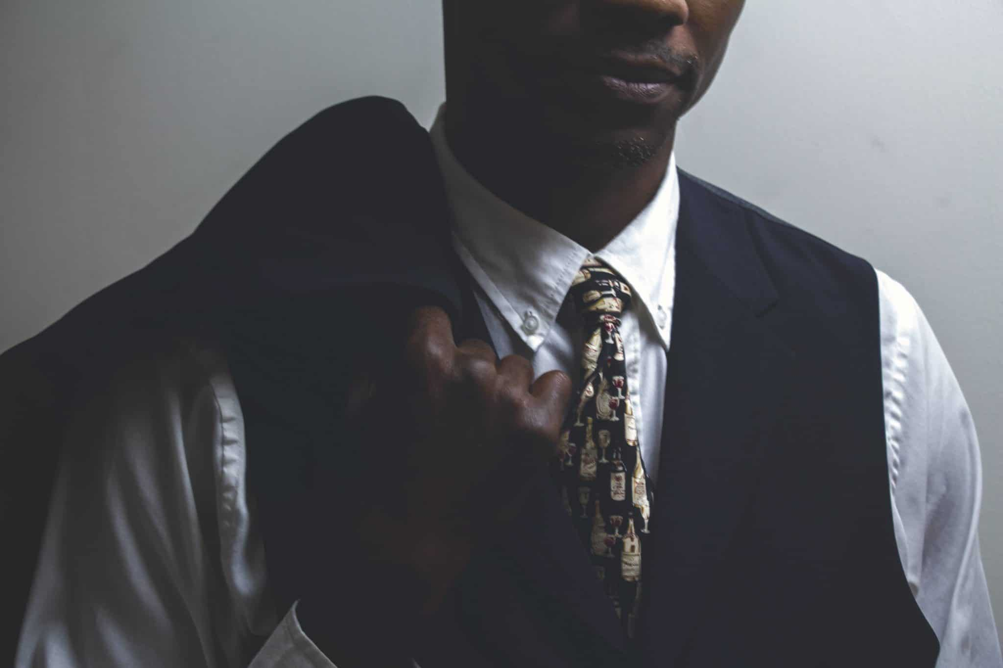 Men's Black Waistcoat