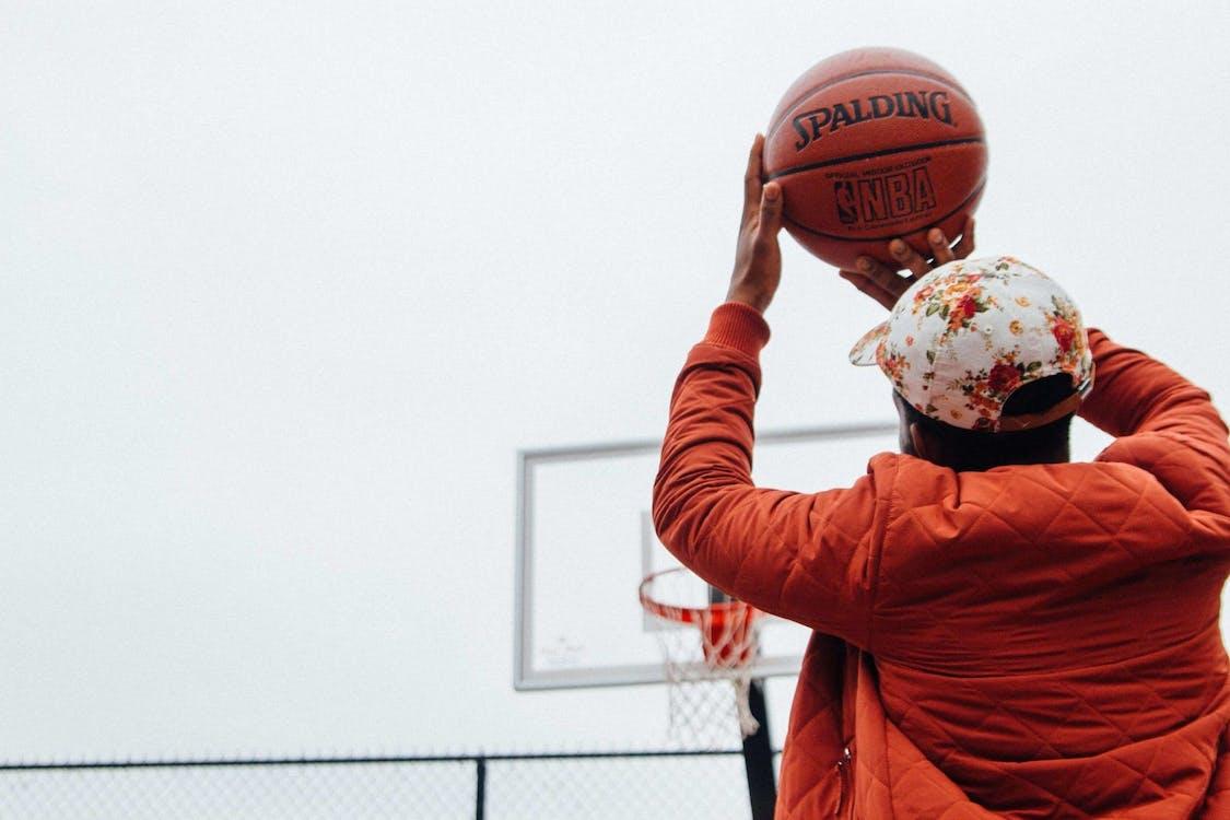 akcja, aktywny, boisko do koszykówki