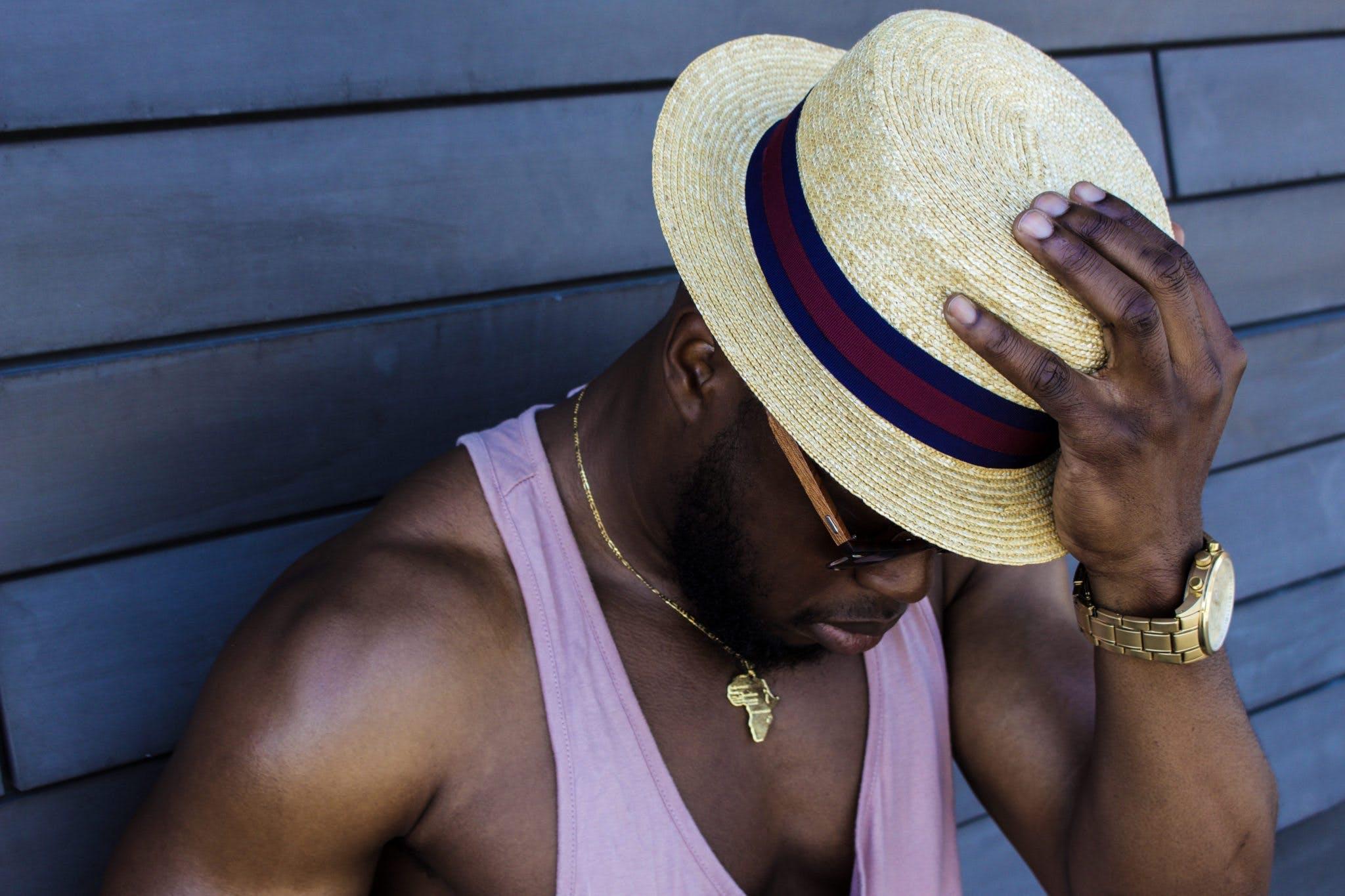 Kostenloses Stock Foto zu black male, fashion, gesichtsausdruck, halskette