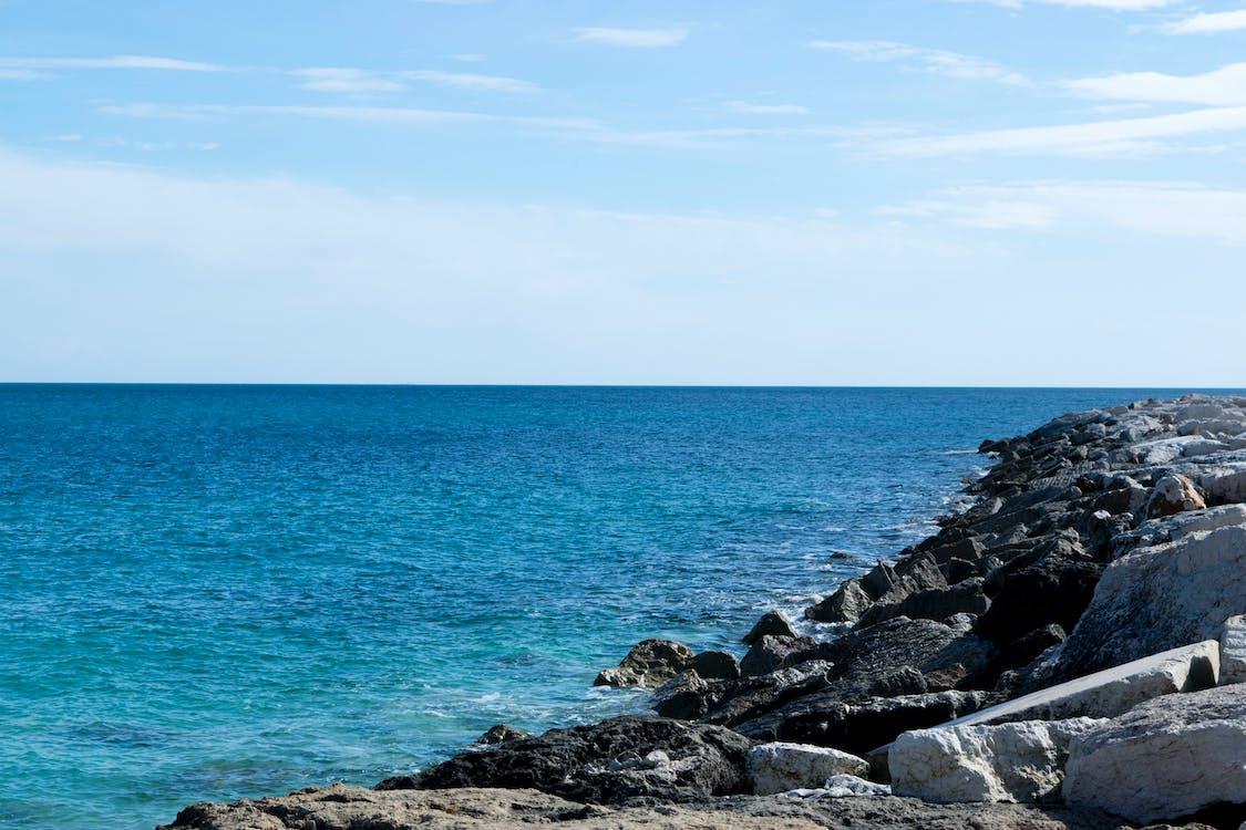 agua, azul, cielo