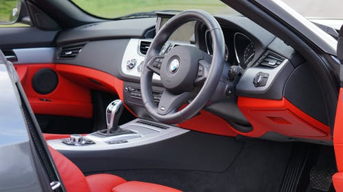 Red and Black Bmw Interior
