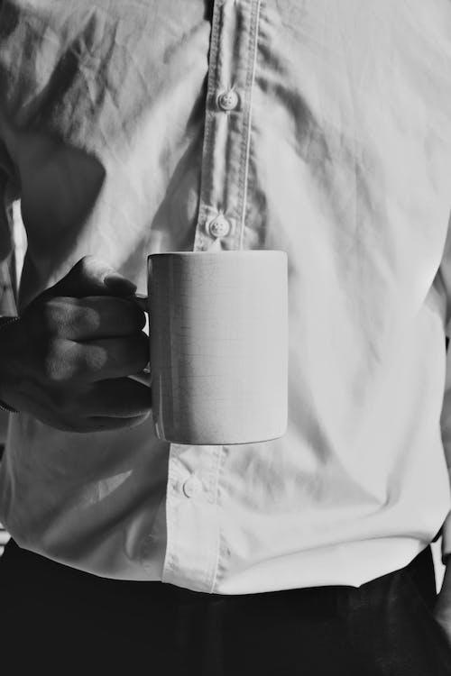Free stock photo of cup of coffee, free time, gentleman, sad
