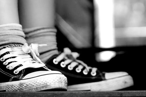 Free stock photo of black and white, shoes, sneakers