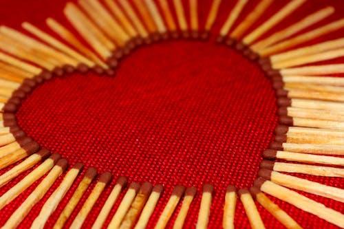 Free stock photo of heart, match stick, matches