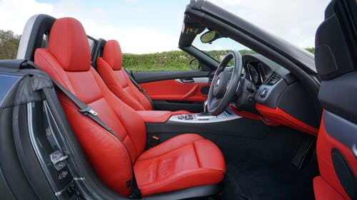 Free stock photo of BMW Z4, car, red, seat