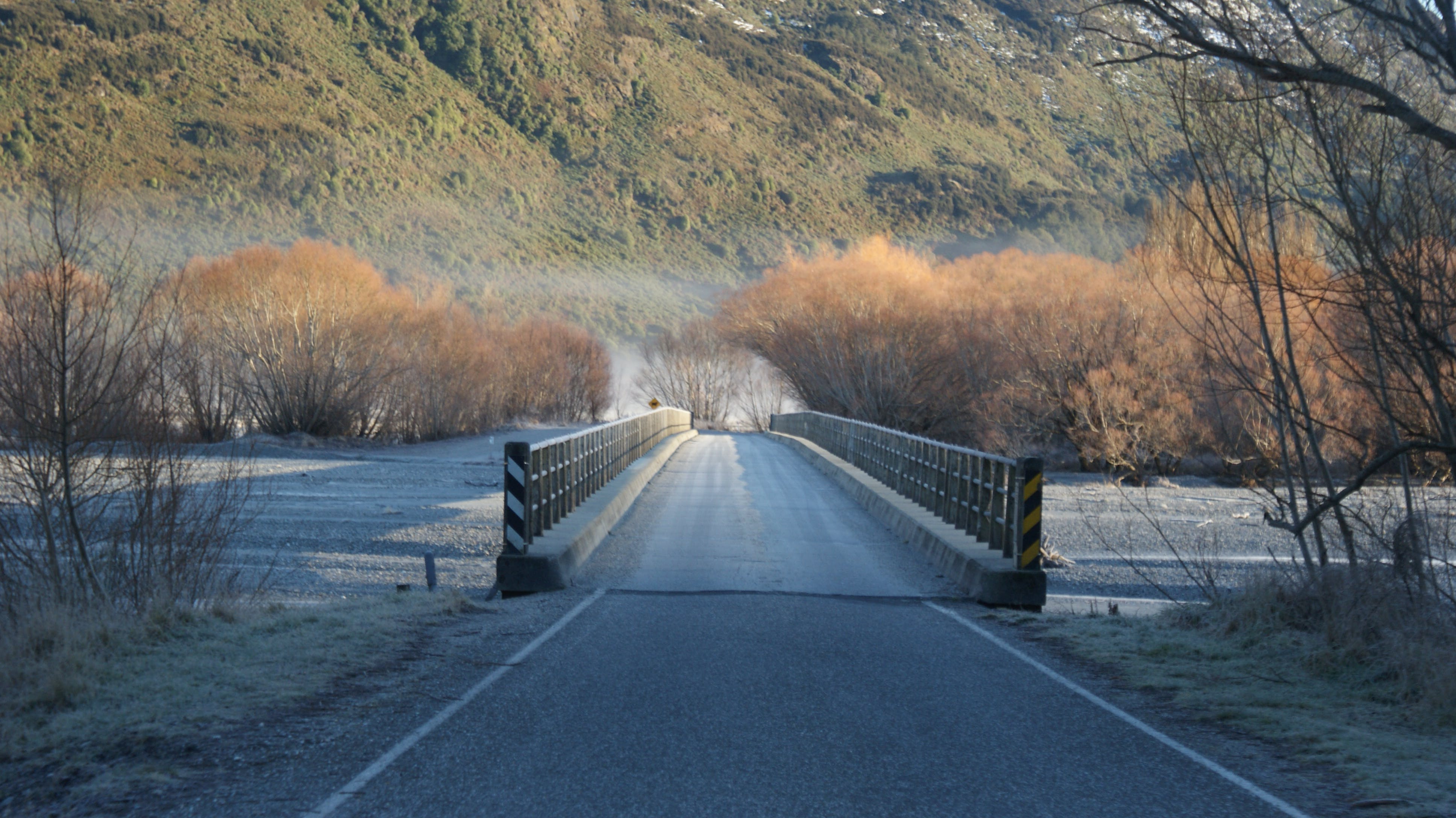 Free Road on the Bridge With View of Mountain