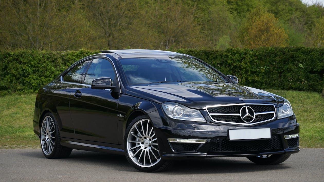 Black Mercedes Benz Coupe